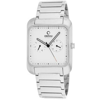 Obaku Men's V145UCISC Harmony Silvertone Stainless Steel Watch