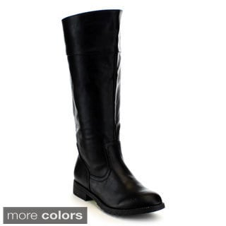 Mark & Maddux Women's 'Travis-06' Knee-high Riding Boots