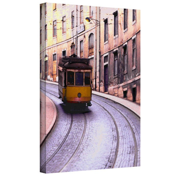 Dean Uhlinger 'Lisbon Transit' Gallery-wrapped Canvas