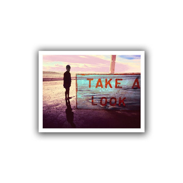 Dean Uhlinger 'Take a Look' Unwrapped Canvas
