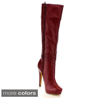 Fahrenheit Women's 'Bullock-01' Stiletto Knee-high Boots