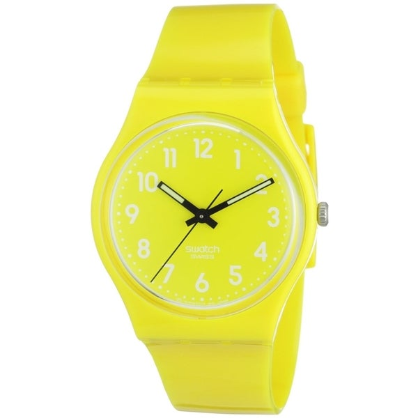 Swatch Originals GJ128 Yellow Plastic Quartz Watch