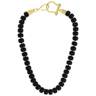 Sunstone Catherine Canino 18k Goldplated Black Agate 24-inch Beaded Necklace