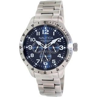 Nautica Men's Bfd 101 N14672G Stainless Steel Blue Dial Watch