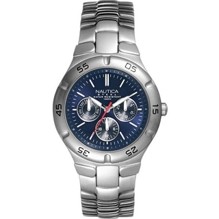 Nautica Men's Metal N10061 Stainless Steel Blue Dial Watch
