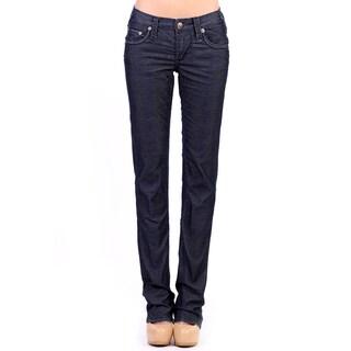 Stitch's Women's Blue Corduroy Straight Leg Jeans