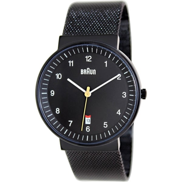Braun Men's BN0032BKBKMHG Black Stainless Steel Quartz Watch