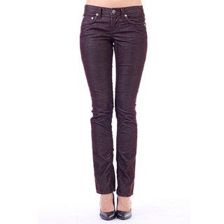 Stitch's Women's Brown Lightweight Straight Leg Corduroy Pants