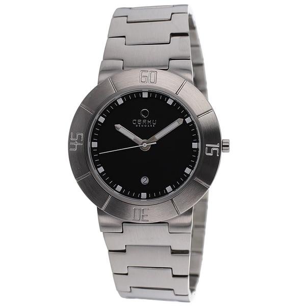Obaku Men's V140GCBSC Harmony SIlvertone Bracelet Watch