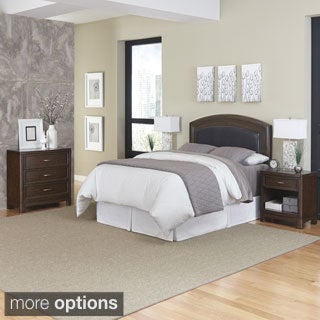 Home Styles Crescent Hill Headboard, Two Night Stands, and Chest