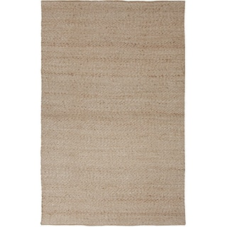 Handmade Abstract Pattern Grey/ Ivory Jute/ Rayon Area Rug (9'x12')