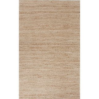 Handmade Abstract Pattern Brown/ Green Jute/ Cotton Area Rug (9'x12')