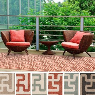 Meticulously Woven Nikki Contemporary Geometric Indoor/Outdoor Area Rug (2'3 x 11'9)