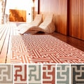 Meticulously Woven Nikki Contemporary Geometric Indoor/Outdoor Area Rug (7'6 x 10'9)