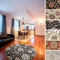 Hand-tufted Lily Pad Floral Round Wool Area Rug (9'9 x 9'9)