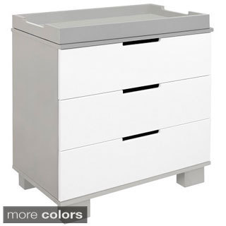 Babyletto Modo Grey/ White 3-drawer Changer Dresser
