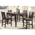 review detail Troyan 5-piece Dark Brown Counter Height Dining Set