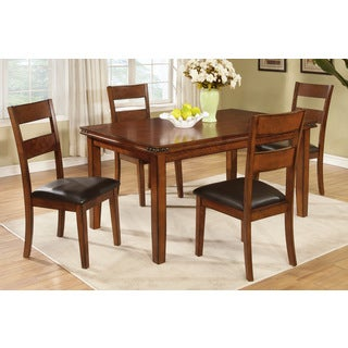 Lubin Antique Medium Oak 5-piece Dining Set