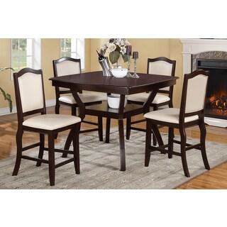 Halden Dark Brown 5-piece Counter Height Dining Set
