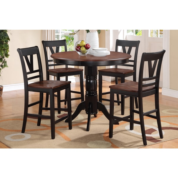 pendleton 5 piece counter table dining set in dark cherry gallery