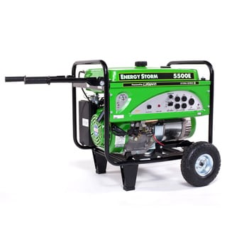 ES5500E-CA 5500-watt 11hp Gas Powered Portable Generator with Electric and Recoil Start CARB Approved