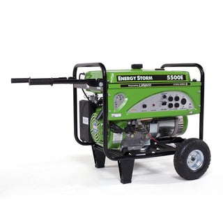 ES5500E 5500-watt 11hp Gas Powered Portable Generator with Electric and Recoil Start