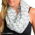 Feellib Women's Lightweight Chevron Woven Scarf