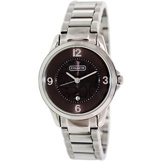 Coach Women's 14501186 Stainless Steel Brown Dial Watch
