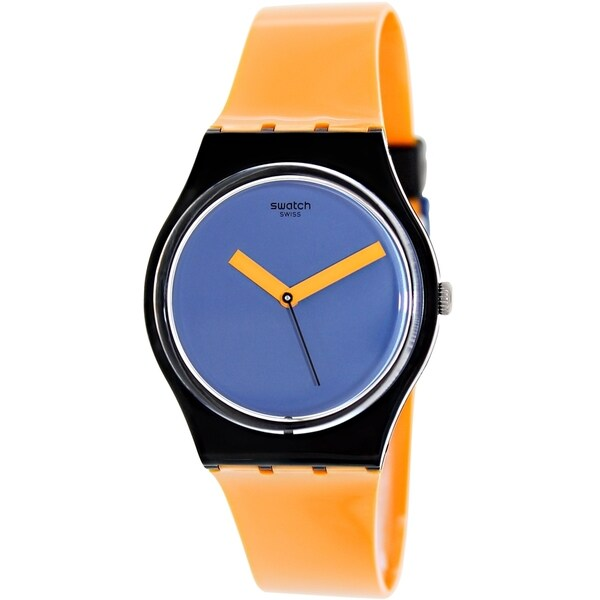 Swatch Women's Irony GB268 Orange Blue Dial Watch