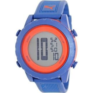 Puma Men's Splash PU911071003 Blue Rubber Quartz Watch