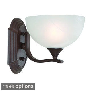 Single Light Wall Sconce with Ivory Cloud Glass