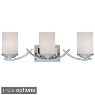 Yosemite Home Decor 3-light Vanity with White Opal Cylindrical Glass Shades