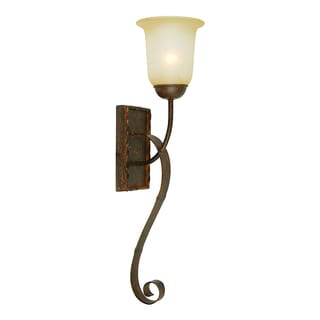 Yosemite Home Decor 1-light Wall Sconce with Alabaster Glass