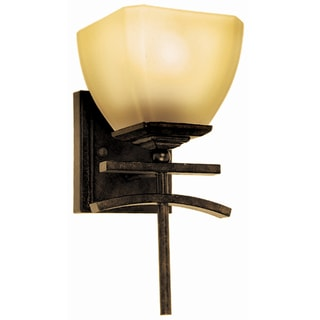 Yosemite Home Decor 1-light Vanity with Amber Scavo Glass