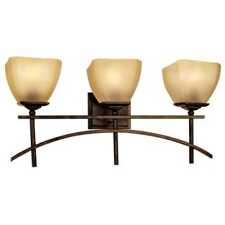 Yosemite Home Decor 3-light Vanity with Amber Scavo Glass