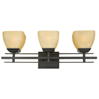 Yosemite Home Decor 3-light Vanity with Parchment Frost Glass