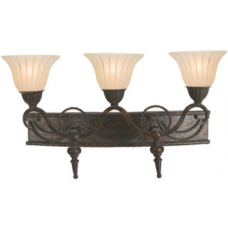 Yosemite Home Decor 3-light Vanity with Spanish Scalloped Glass
