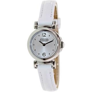 Coach Women's Madison 14501692 White Leather Quartz Watch