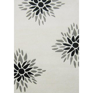 Alliyah Handmade Off-white New Zealand Blend Wool Rug (4' x 6')