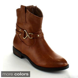 Betani Women's 'Sabrina-6' Buckle Mid-calf Boots