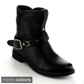 Betani Women's 'Sabrina-7' Buckle Mid-calf Boots