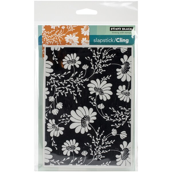 "Penny Black Cling Rubber Stamp 5""X6.5"" Sheet -Floral Tapestry"
