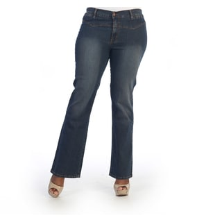 Hadari Women's Plus Size Casual Denim Jeans