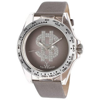 ToyWatch Women's D05GY Grey Polycarbonate and Satin Over Leather Watch