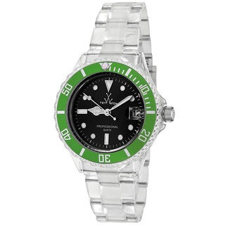ToyWatch Women's 1105GRP Green/ Clear Polycarbonate Watch
