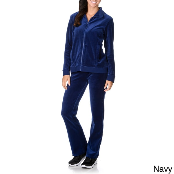 La Cera Women's Two-piece Sweat Suit