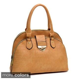 Faux Croc Satchel Handbag