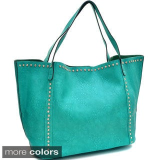 Faux Leather Shopper Tote