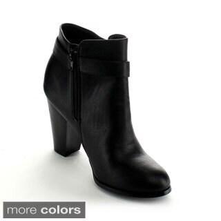 Betani Women's 'Mia-1' Chunky Heel Ankle Booties