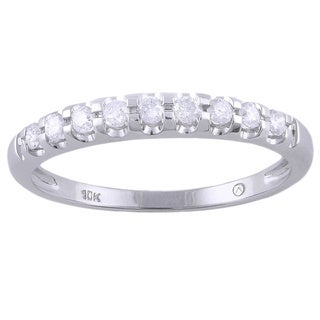 Beverly Hills Charm 10K White Gold 1/5ct TDW Diamond Band Ring (H-I, I2-I3)